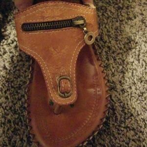 Western sandals for her